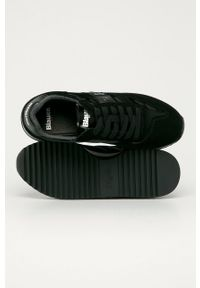 Czarne buty sportowe Blauer z okrągłym noskiem, z cholewką
