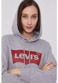 Levi's® - Levi's - Bluza. Okazja: na spotkanie biznesowe. Kolor: szary. Materiał: dzianina. Długość rękawa: długi rękaw. Długość: długie. Styl: biznesowy