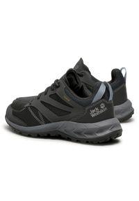 Szare buty trekkingowe Jack Wolfskin trekkingowe, z cholewką