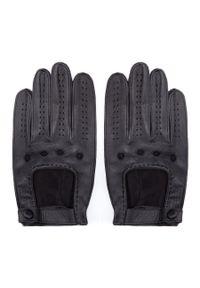 Czarne rękawiczki Wittchen z aplikacjami, casualowe