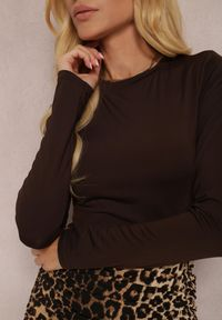 Renee - Ciemnobrązowe Body Glorya. Kolor: brązowy. Długość: długie