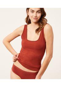 Coton 360 Podkoszulek Z Elastycznej Bio Bawełny - Miedziany - Etam. Kolor: brązowy. Materiał: bawełna