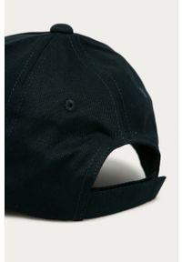 Niebieska czapka z daszkiem Emporio Armani gładkie