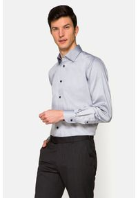 Lancerto - Koszula Szara Deena. Kolor: szary. Materiał: bawełna, jeans, tkanina, wełna. Wzór: ze splotem
