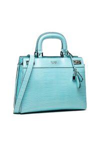 Guess - Torebka GUESS - Katey HWCY78 70070 AQUA. Kolor: niebieski. Materiał: skórzane. Styl: klasyczny. Rodzaj torebki: na ramię
