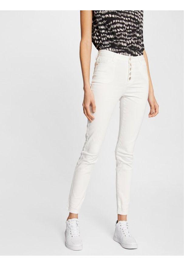 Morgan Jeansy 211-PWHITE Biały Slim Fit. Kolor: biały