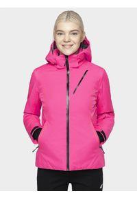 Różowa kurtka narciarska 4f na zimę