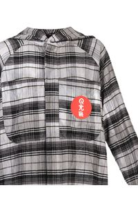 ROBERT KUPISZ - Koszula ORIENT RISING SUN FLANNEL. Okazja: na co dzień. Kolor: szary. Materiał: materiał, bawełna. Długość rękawa: długi rękaw. Długość: długie. Styl: casual