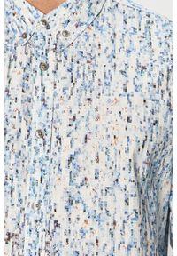 Niebieska koszula Desigual na co dzień, długa, casualowa