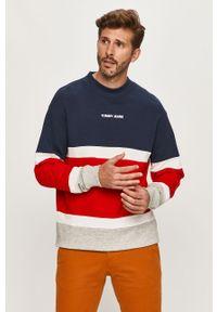 Wielokolorowa bluza nierozpinana Tommy Jeans z okrągłym kołnierzem