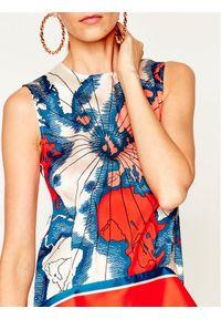 Victoria Victoria Beckham Sukienka letnia Printed Heavy Poly 2120WDR000489A Kolorowy Regular Fit. Wzór: kolorowy. Sezon: lato