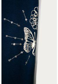 Niebieskie legginsy Desigual z nadrukiem