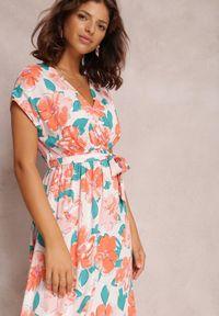 Renee - Pomarańczowa Sukienka Helet. Kolor: pomarańczowy