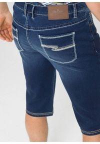 """Długie bermudy dżinsowe ze stretchem Regular Fit bonprix niebieski """"stone"""". Kolor: niebieski. Długość: długie"""