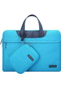 Niebieska torba na laptopa Cartinoe