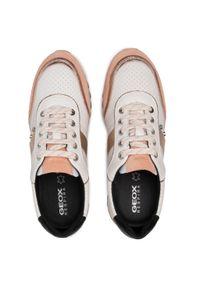 Geox - Sneakersy GEOX - D Tabelya A D02AQA 08522 C1375 Off Wht/Apricot. Okazja: na co dzień. Kolor: biały. Materiał: skóra ekologiczna, zamsz. Szerokość cholewki: normalna. Sezon: lato. Styl: elegancki, sportowy, casual