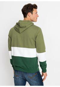 Bluza z kapturem bonprix zielony lodenowy - biały - ciemnozielony w paski. Typ kołnierza: kaptur. Kolor: zielony. Wzór: paski #4