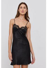 BARDOT - Bardot - Sukienka. Okazja: na co dzień. Kolor: czarny. Materiał: koronka. Długość rękawa: na ramiączkach. Typ sukienki: proste. Styl: casual