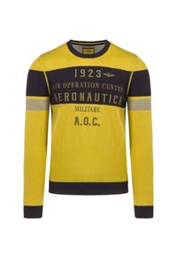 Żółty sweter Aeronautica Militare z haftami