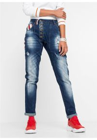 Niebieskie jeansy bonprix z aplikacjami #6
