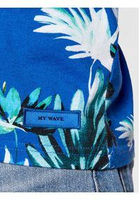 Superdry T-Shirt Aop Tee M1010999A Granatowy Regular Fit. Kolor: niebieski
