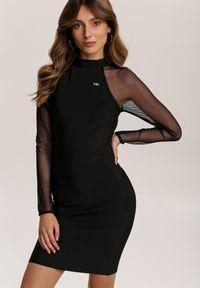 Renee - Czarna Sukienka Zaurg. Kolor: czarny