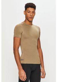 Under Armour - T-shirt. Okazja: na co dzień. Kolor: zielony. Materiał: dzianina. Wzór: gładki. Styl: casual