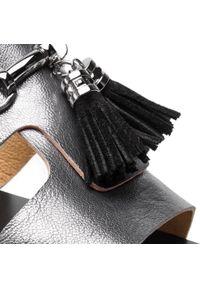 Szare sandały Maccioni casualowe, na co dzień, z aplikacjami