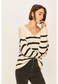 Kremowy sweter ANSWEAR casualowy, na co dzień