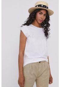 medicine - Medicine - T-shirt Basic. Kolor: biały. Materiał: bawełna, dzianina. Wzór: haft