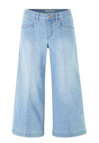 Dżinsy 3/4 culotte bonprix jasnoniebieski. Kolor: niebieski