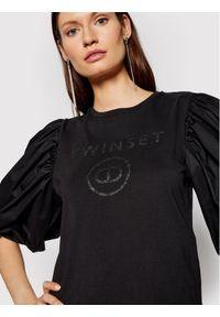 TwinSet Bluzka 211TT2513 Czarny Regular Fit. Kolor: czarny