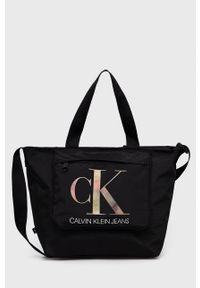 Calvin Klein Jeans - Torebka. Kolor: czarny