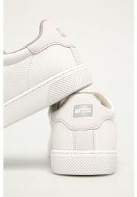 Białe sneakersy Jack & Jones na sznurówki, z okrągłym noskiem #4