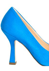 Pinko - PINKO - Niebieskie szpilki Cedrus. Okazja: na co dzień. Kolor: niebieski. Materiał: zamsz. Obcas: na szpilce. Styl: wizytowy, elegancki, casual. Wysokość obcasa: średni