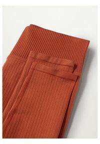 mango - Mango Legginsy Apolo 87085639 Brązowy Slim Fit. Kolor: brązowy