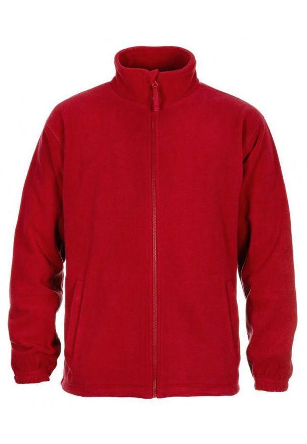 Czerwona kurtka Janpol ze stójką, na wiosnę