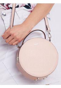 Różowa torebka ROVICKY gładkie, skórzana, klasyczna