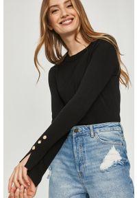 Czarny sweter Answear Lab długi, wakacyjny, z długim rękawem, gładki