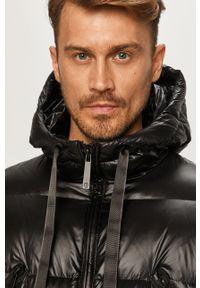 Czarna kurtka Trussardi Jeans na co dzień, z kapturem, casualowa