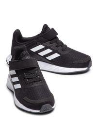 Czarne półbuty Adidas na rzepy, z cholewką