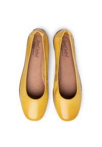 Żółte baleriny Josef Seibel z cholewką, klasyczne