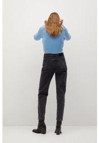 mango - Mango - Jeansy MOM80. Okazja: na co dzień. Stan: podwyższony. Kolor: czarny. Wzór: gładki. Styl: casual