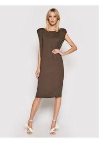 Birgitte Herskind Sukienka codzienna Sarah 4056770 Brązowy Regular Fit. Okazja: na co dzień. Kolor: brązowy. Typ sukienki: proste. Styl: casual