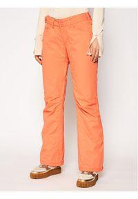 Pomarańczowe spodnie sportowe Roxy narciarskie