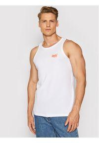 Superdry Tank top Ol Neon Lite Vest M6010615A Biały Regular Fit. Kolor: biały
