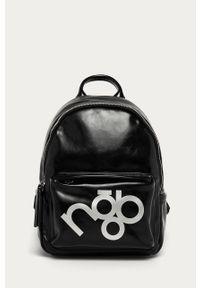 Czarny plecak Nobo z nadrukiem