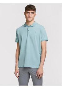 Jack&Jones PREMIUM Polo Blalogo Spring 12184709 Niebieski Regular Fit. Typ kołnierza: polo. Kolor: niebieski