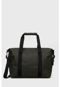 Rains - Torba 1319 Weekend Bag Small. Kolor: zielony