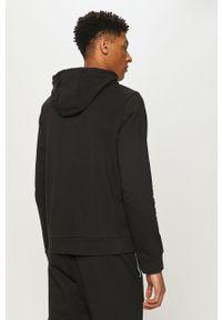 Czarna bluza nierozpinana Calvin Klein Performance casualowa, z nadrukiem, na co dzień, z kapturem